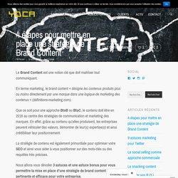Brand Content : 4 étapes pour votre stratégie / YDCA