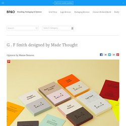 Logo and Brand Identity for G . F Smith by Made Thought