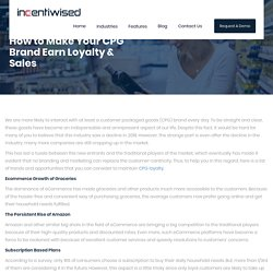 How to Make Your CPG Brand Earn Loyalty & Sales