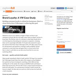 Brand Loyalty: A VW Case Study