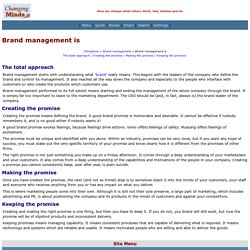 Brand management is