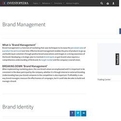 Brand Management Definition