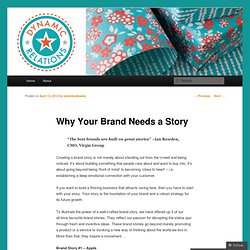 Why Your Brand Needs a Story