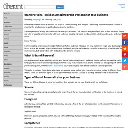Brand Persona- Build an Amazing Brand Persona for Your Business