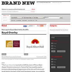 New Logo for Royal Albert Hall by BrandPie