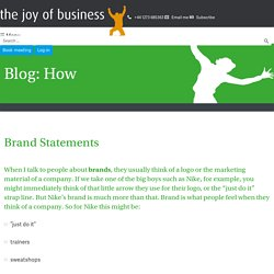 Brand Statements - The Joy of Business