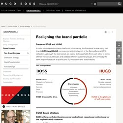 Two Brand Strategy - HUGO BOSS Annual Report 2017