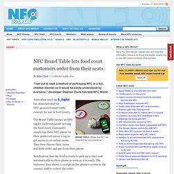 NFC Brand Table lets food court customers order from their seats