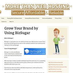 Grow Your Brand by Using BizSugar