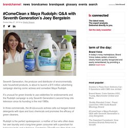 ComeClean x Maya Rudolph: Q&A with Seventh Generation's Joey Bergstein