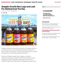 Snapple Unveils New Logo and Look For National Iced Tea Day - brandchannel: