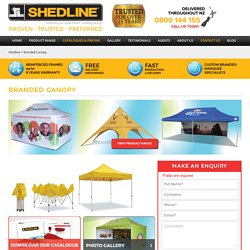 Branded Canopy - Shedline Instant Marquee
