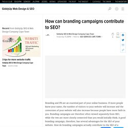 How can branding campaigns contribute to SEO?