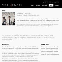 Pencil Branding & Digital- Saudi Riyadh Website design and development company - About