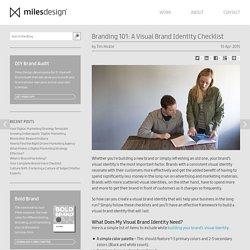 Branding 101: A Visual brand Identity Checklist