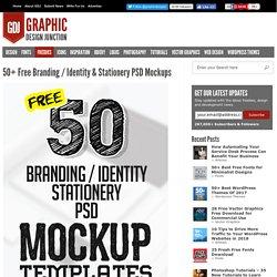 50+ Free Branding / Identity & Stationery PSD Mockups