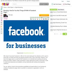 Branding: How Do You Kick Things Off With A Facebook Page?