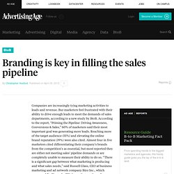 Branding is key in filling the sales pipeline
