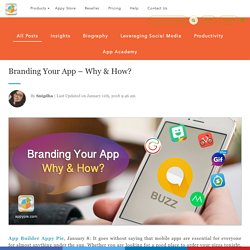 Branding Your App – Why & How?