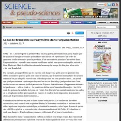 La loi de Brandolini ou l'asymétrie dans l'argumentation - 322 - octobre 2017