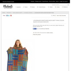 Lion Brand® Heartland® Necks Best Thing Colour Blocks Afghan (Crochet)
