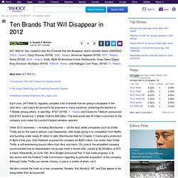 brands-disappear-2012-247: Personal Finance News from Yahoo! Finance