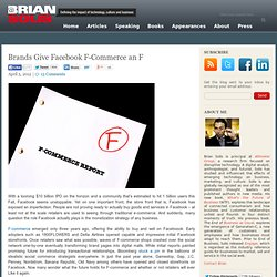 Brands Give Facebook F-Commerce an F