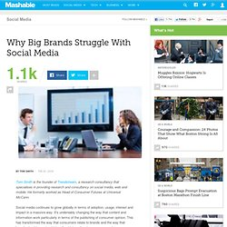 Why Big Brands Struggle With Social Media