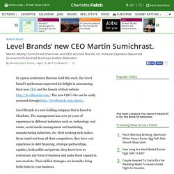 Level Brands New CEO - Martin Sumichrast