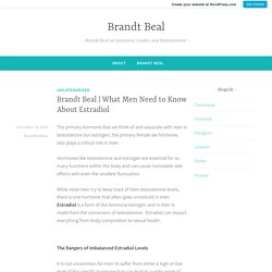 What Men Need to Know About Estradiol – Brandt Beal