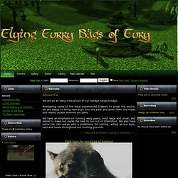 Flying Furry Bags of Fury : Home : Lord of the Rings Online (LOTR) Guild Site at GuildPortal