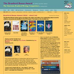 Branford Boase Award Shortlist