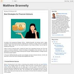 Matthew Brannelly: Best Strategies for Financial Advisors