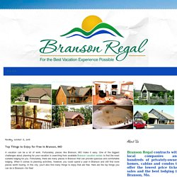 Top Things to Enjoy for Free in Branson, MO