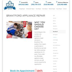 Appliance repair Brantford