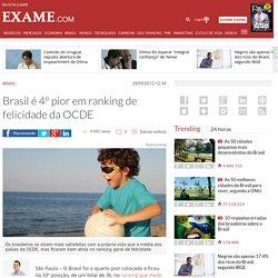 Brasil é 4º pior em ranking de felicidade da OCDE