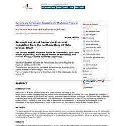 Rev. Soc. Bras. Med. Trop., ahead of print Epub July 05, 2012 Serologic survey of hantavirus in a rural population from the nort