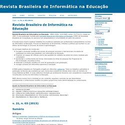 Revista Brasileira de Informática na Educação