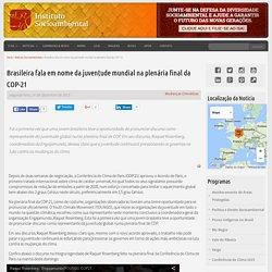 Brasileira fala em nome da juventude mundial na plenária final da COP-21
