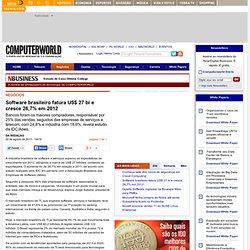 Software brasileiro fatura US$ 27 bi e cresce 26,7% em 2012