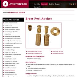 Pool Cover Brass Anchors - Jit Enterprise