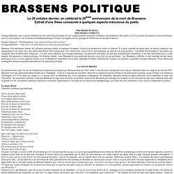 Brassens politique