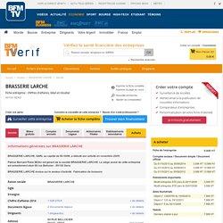 Société BRASSERIE LARCHE à SENS (Chiffre d'affaires, bilans, résultat) avec Verif.com - Siren 485168801