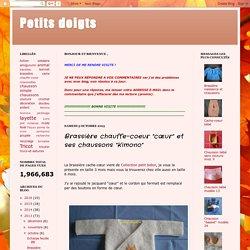 """Petits doigts: Brassière chauffe-coeur """"cœur"""" et ses chaussons """"Kimono"""""""
