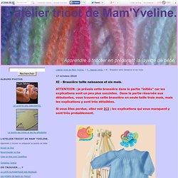 XI - Brassière taille naissance et six mois. - L'atelier tricot de Mam' Yveline.