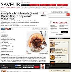 Bratapfel mit Walnusseis (Baked Walnut-Stuffed Apples with White Wine) Recipe