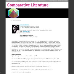 Department of Comparative Literature