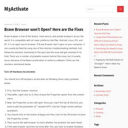 Brave Browser won't Open? Here are the Fixes - M3Activate