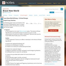 Dxrliterary analysis essay brave new world