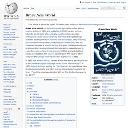 Brave New World (wiki)